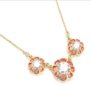 Juicy Couture flowers necklace and ring set